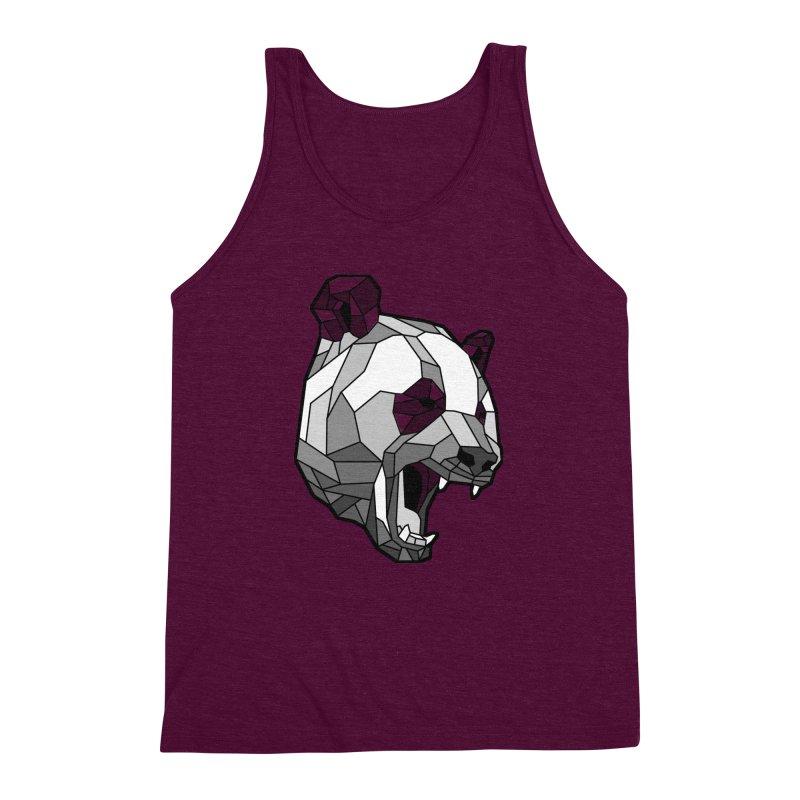 Panda Roar Men's Triblend Tank by Mike Kavanagh's Artist Shop