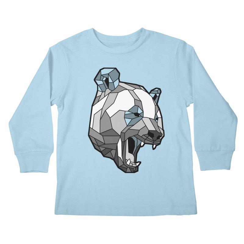Panda Roar Kids Longsleeve T-Shirt by Mike Kavanagh's Artist Shop
