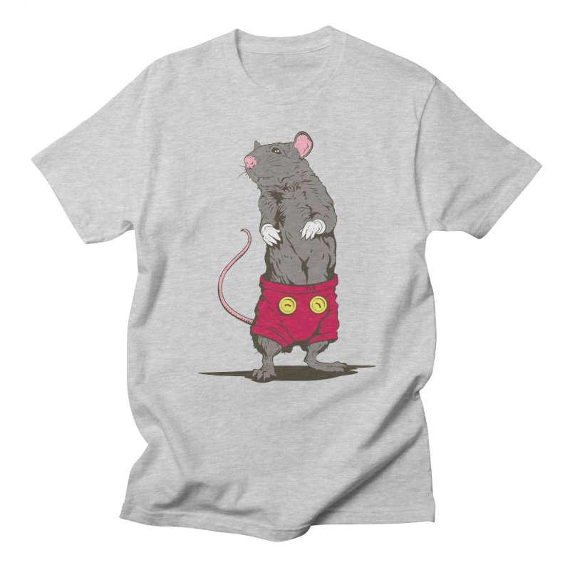 Real Mickey in Men's Regular T-Shirt Heather Grey by Mike Kavanagh's Artist Shop