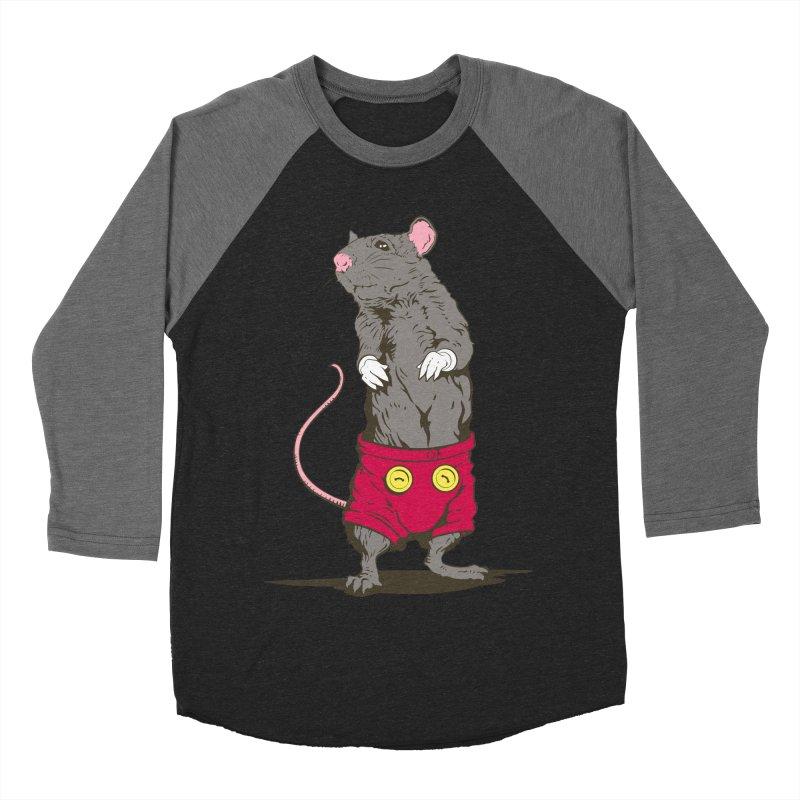 Real Mickey Women's Baseball Triblend T-Shirt by Mike Kavanagh's Artist Shop