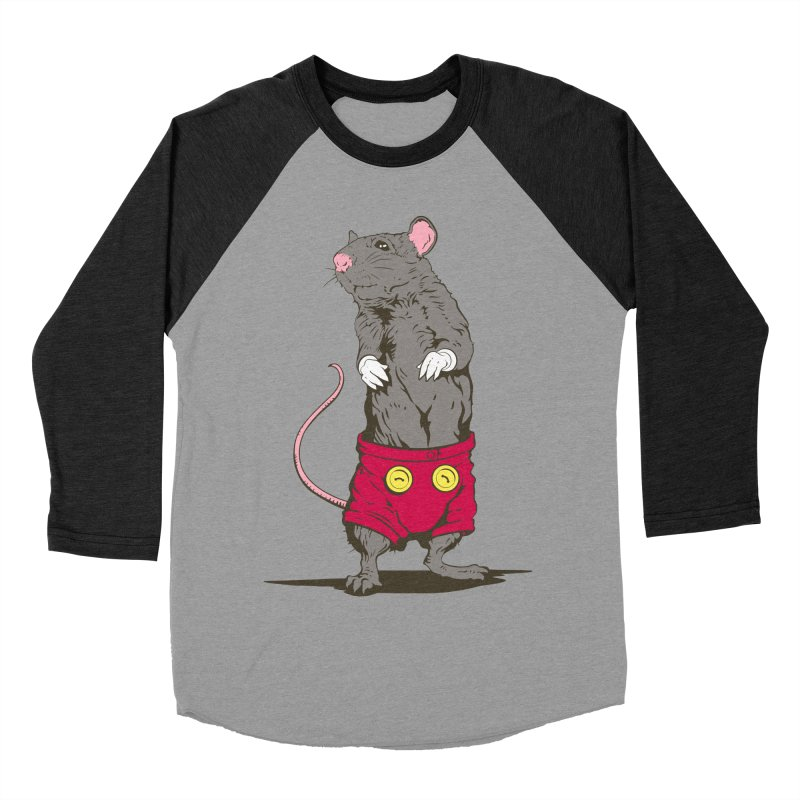 Real Mickey Women's Baseball Triblend Longsleeve T-Shirt by Mike Kavanagh's Artist Shop
