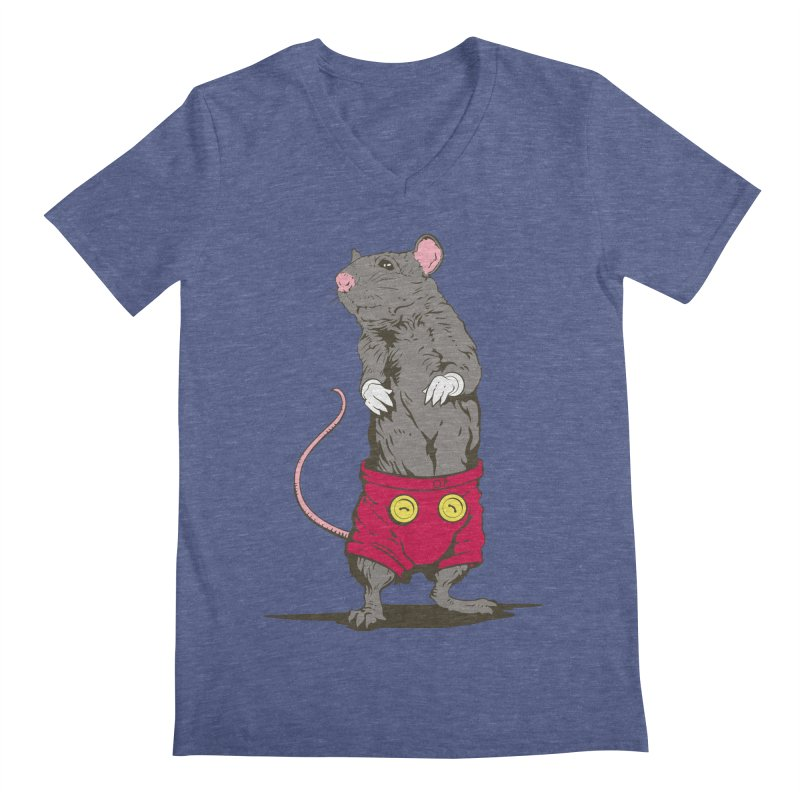 Real Mickey Men's V-Neck by Mike Kavanagh's Artist Shop