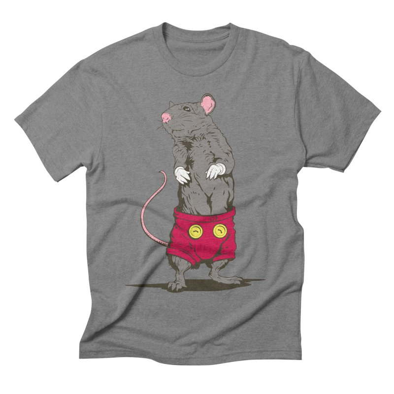 Real Mickey Men's Triblend T-shirt by Mike Kavanagh's Artist Shop