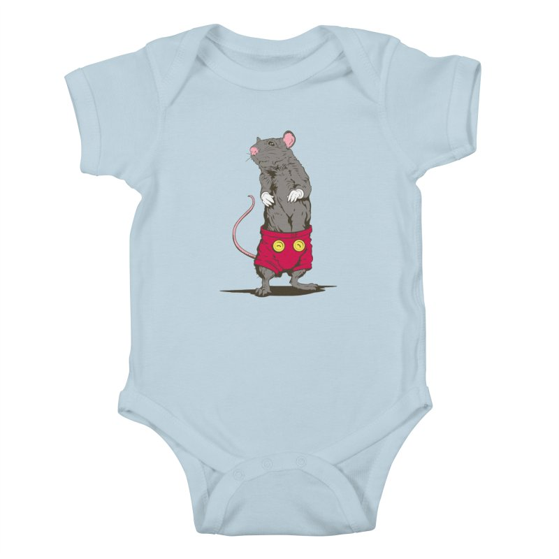 Real Mickey Kids Baby Bodysuit by Mike Kavanagh's Artist Shop