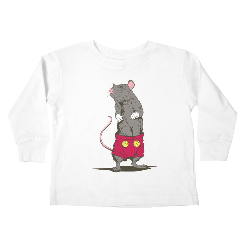 Real Mickey Kids Toddler Longsleeve T-Shirt by Mike Kavanagh's Artist Shop