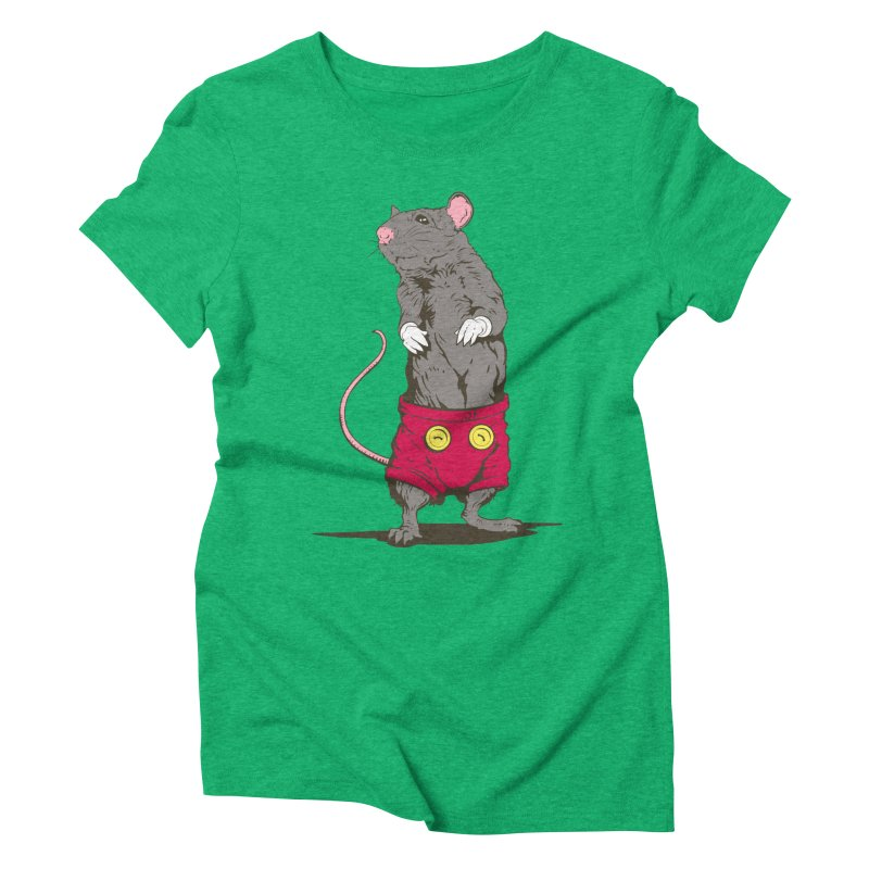 Real Mickey Women's Triblend T-shirt by Mike Kavanagh's Artist Shop