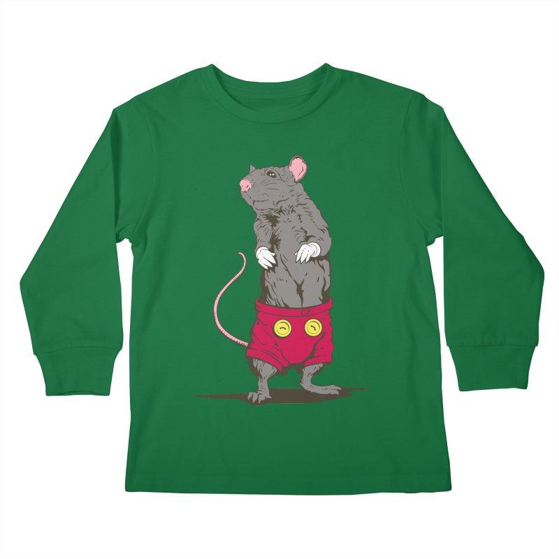 Real Mickey Kids Longsleeve T-Shirt by Mike Kavanagh's Artist Shop