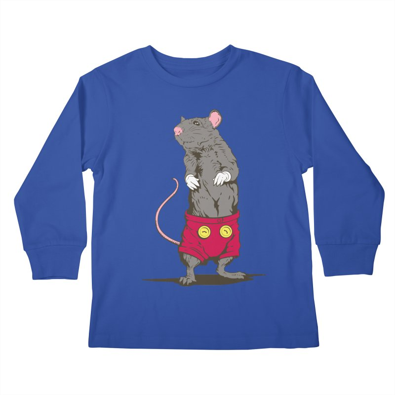Real Mickey Kids Longsleeve T-Shirt by Mike Kavanagh's Artist Shop