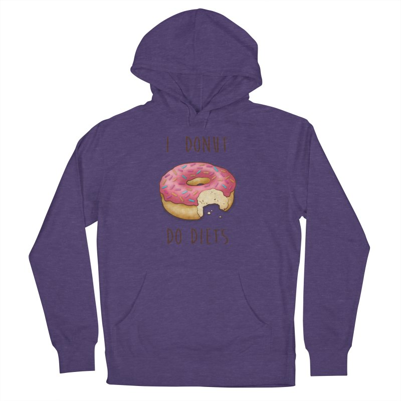 I Donut Do Diets Men's Pullover Hoody by Mike Kavanagh's Artist Shop