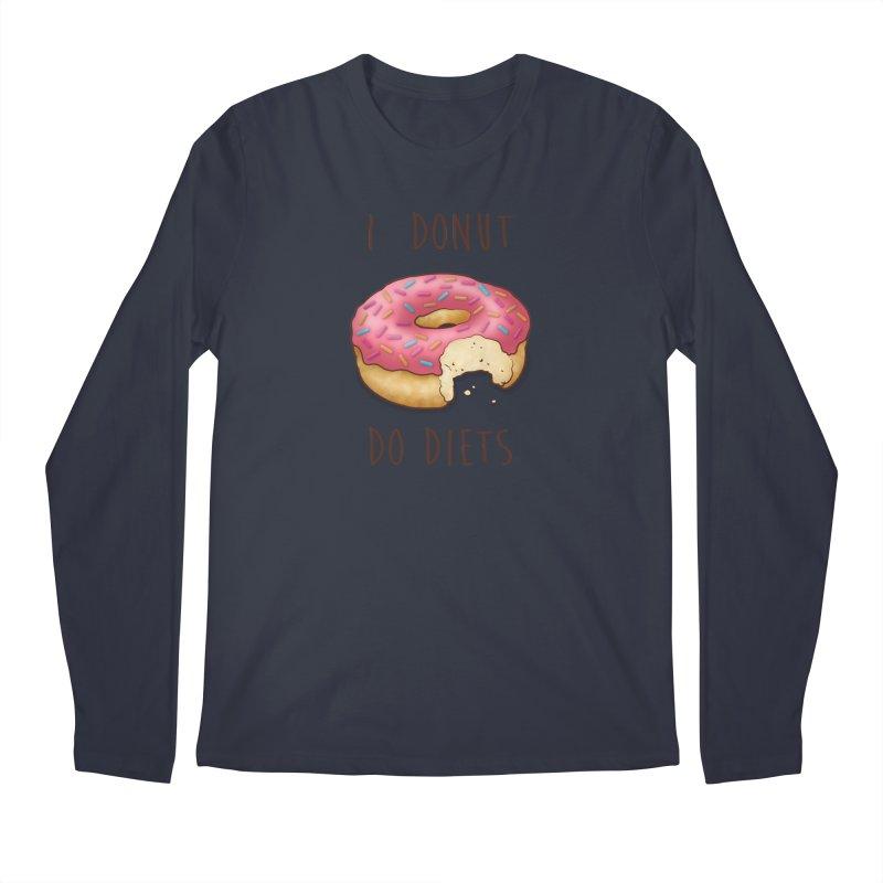I Donut Do Diets Men's Regular Longsleeve T-Shirt by Mike Kavanagh's Artist Shop