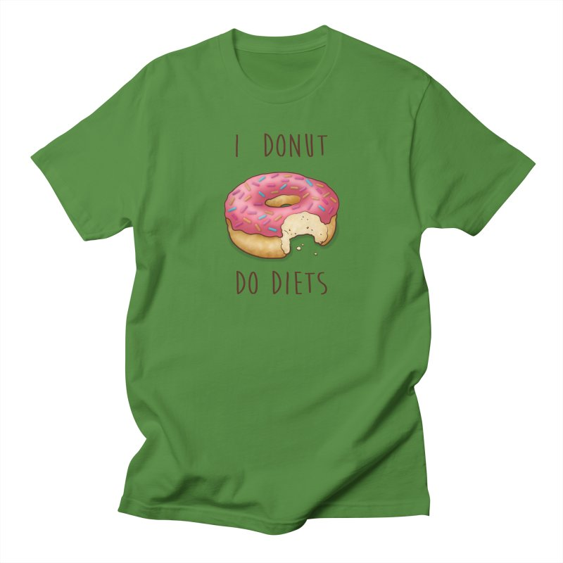 I Donut Do Diets Men's Regular T-Shirt by Mike Kavanagh's Artist Shop