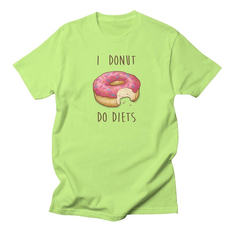 I Donut Do Diets Men's T-shirt by Mike Kavanagh's Artist Shop
