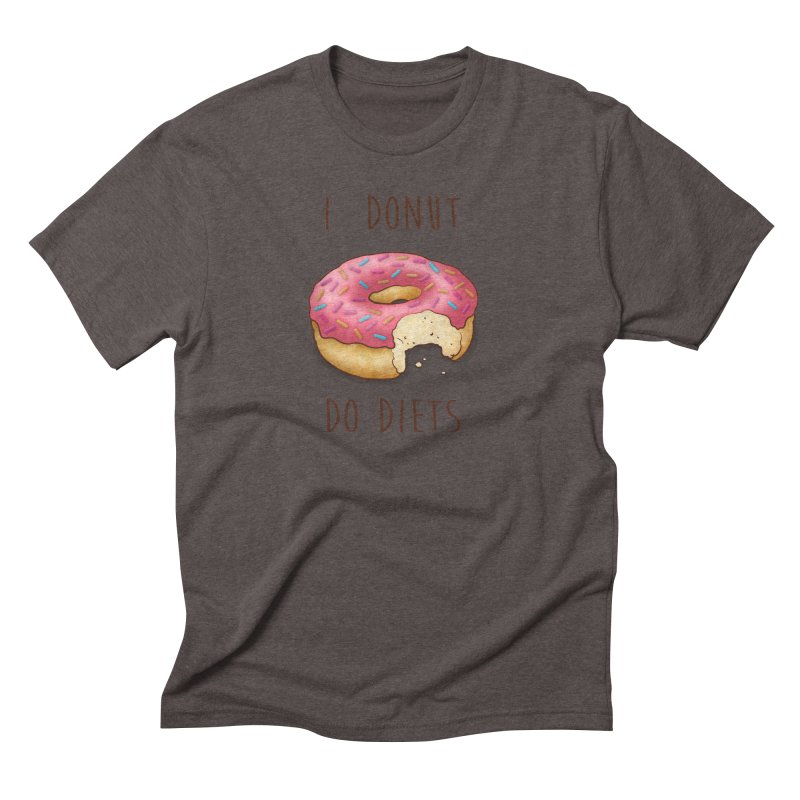 I Donut Do Diets Men's Triblend T-Shirt by Mike Kavanagh's Artist Shop