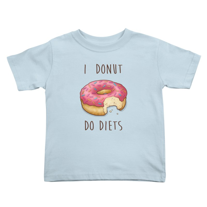 I Donut Do Diets Kids Toddler T-Shirt by Mike Kavanagh's Artist Shop