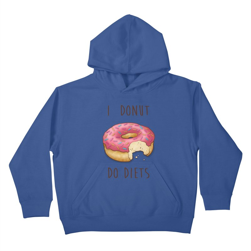I Donut Do Diets Kids Pullover Hoody by Mike Kavanagh's Artist Shop