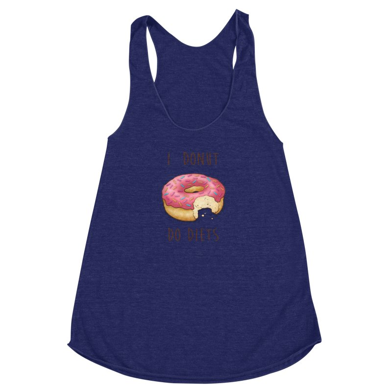 I Donut Do Diets Women's Racerback Triblend Tank by Mike Kavanagh's Artist Shop