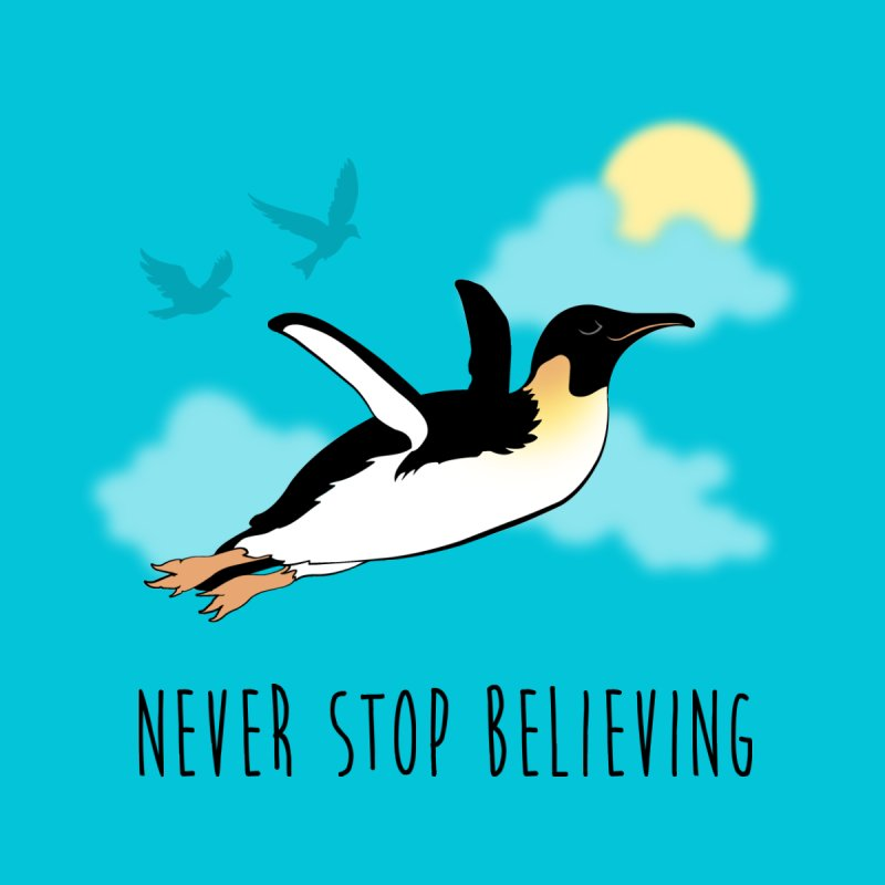 Never Stop Believing Men's T-shirt by Mike Kavanagh's Artist Shop