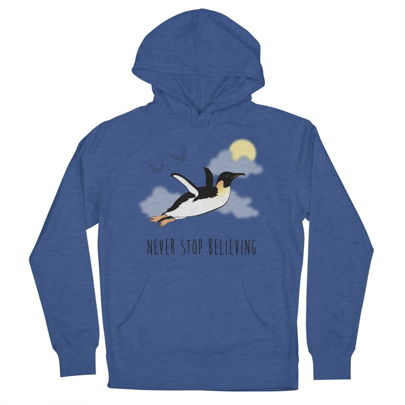 Never Stop Believing Men's Pullover Hoody by Mike Kavanagh's Artist Shop