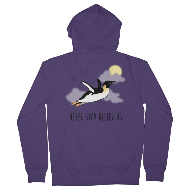 Never Stop Believing Women's Zip-Up Hoody by Mike Kavanagh's Artist Shop