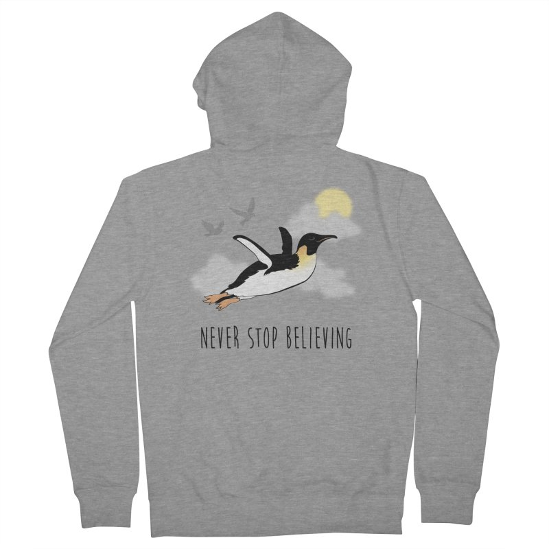 Never Stop Believing Men's Zip-Up Hoody by Mike Kavanagh's Artist Shop