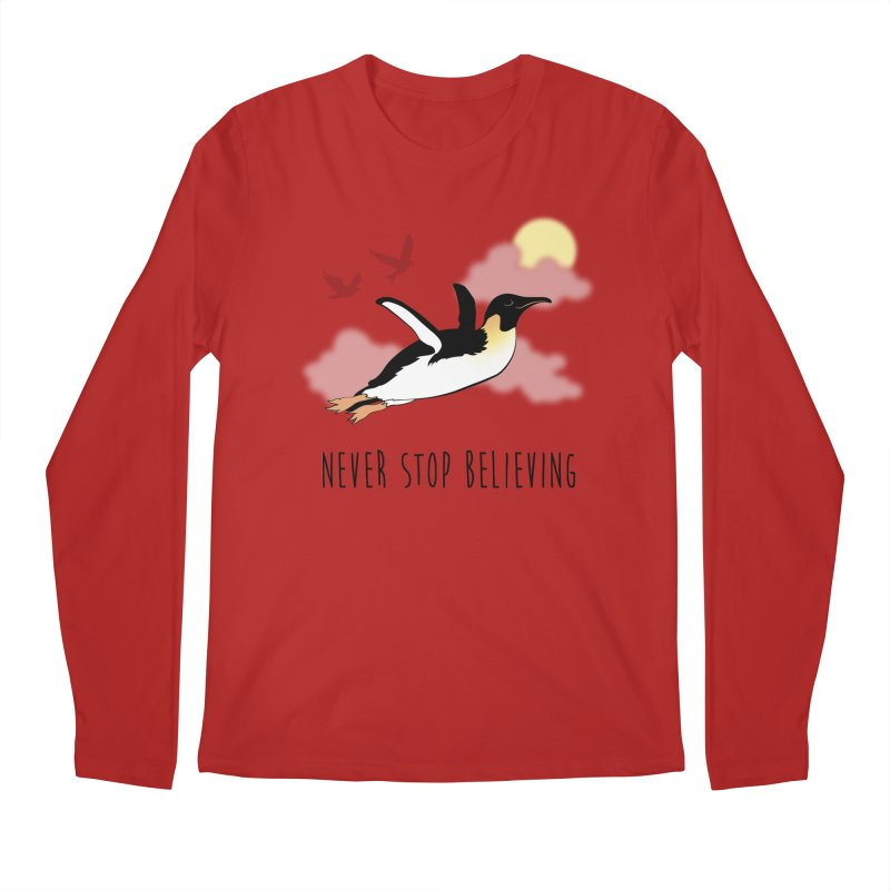 Never Stop Believing Men's Longsleeve T-Shirt by Mike Kavanagh's Artist Shop