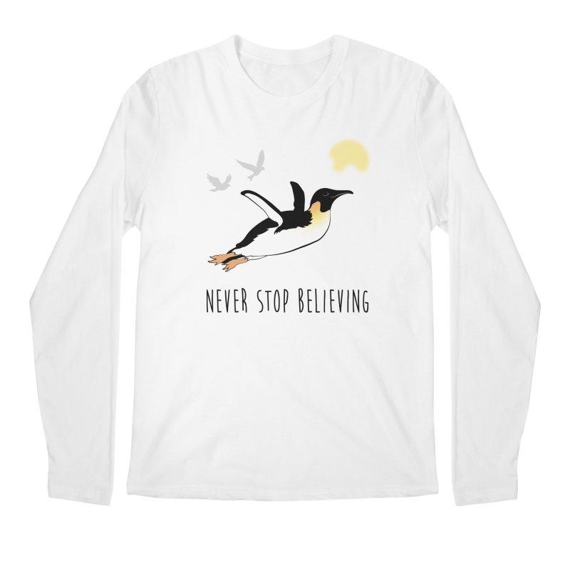 Never Stop Believing Men's Regular Longsleeve T-Shirt by Mike Kavanagh's Artist Shop