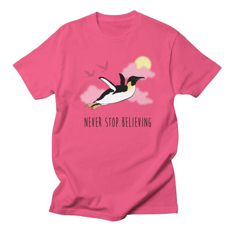 Never Stop Believing Men's T-Shirt by Mike Kavanagh's Artist Shop