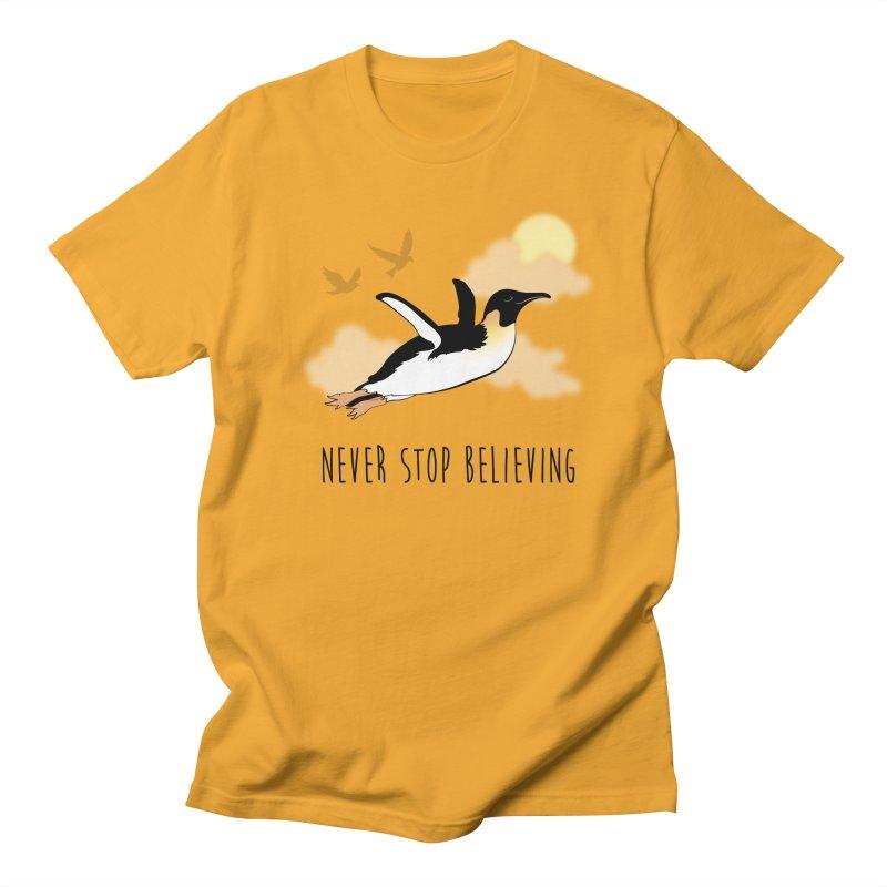 Never Stop Believing Men's Regular T-Shirt by Mike Kavanagh's Artist Shop