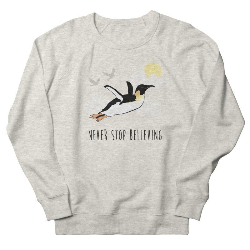 Never Stop Believing Men's Sweatshirt by Mike Kavanagh's Artist Shop