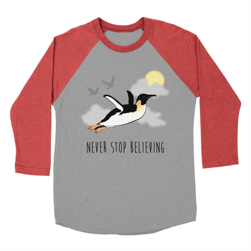 Never Stop Believing Men's Baseball Triblend T-Shirt by Mike Kavanagh's Artist Shop
