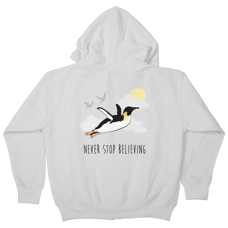 Never Stop Believing Kids Zip-Up Hoody by Mike Kavanagh's Artist Shop