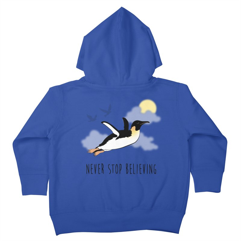 Never Stop Believing Kids Toddler Zip-Up Hoody by Mike Kavanagh's Artist Shop