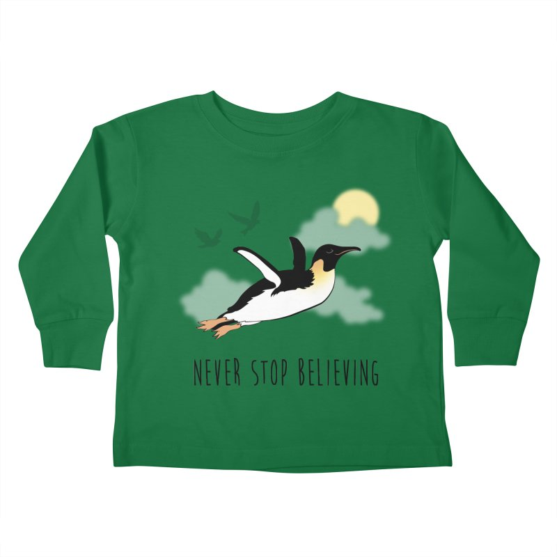 Never Stop Believing Kids Toddler Longsleeve T-Shirt by Mike Kavanagh's Artist Shop