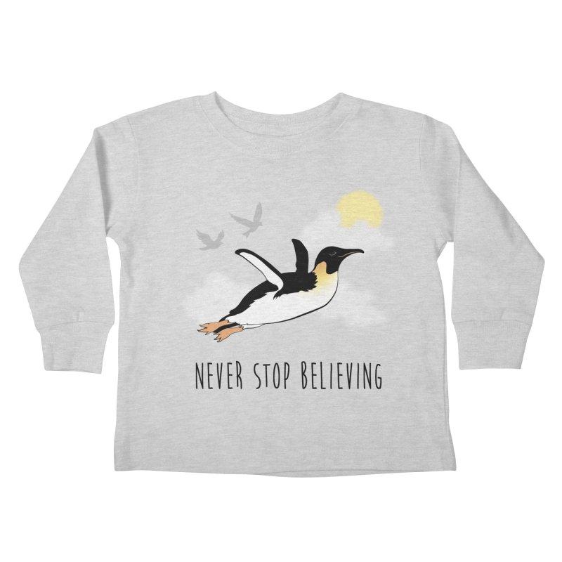 Never Stop Believing Kids Toddler Longsleeve T-Shirt by Mike Kavanagh's Artist Shop