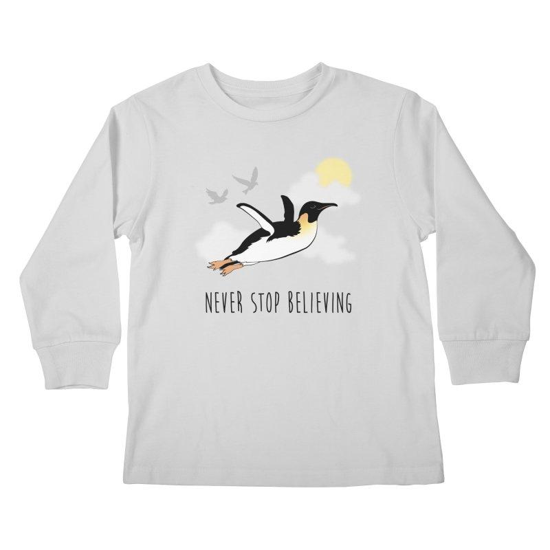 Never Stop Believing Kids Longsleeve T-Shirt by Mike Kavanagh's Artist Shop