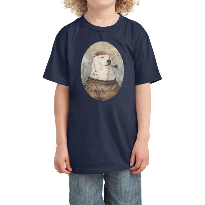 Onto the Shore Kids T-Shirt by mikekoubou's Artist Shop