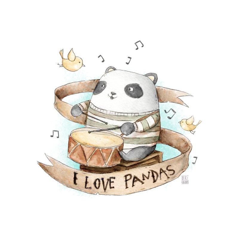 I Love Pandas by mikekoubou's Artist Shop