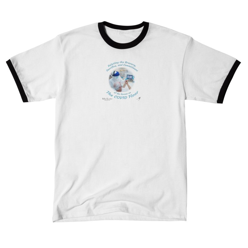 Saluting Heroes of The COVID Floor Men's T-Shirt by Mike Kuster's Artist Shop