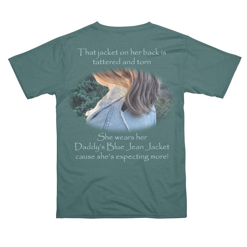Daddy's Blue Jean Jacket - Green Men's Cut & Sew by Mike Kuster's Artist Shop