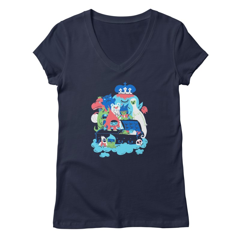 Death of Imagination Women's V-Neck by mikelaughead's Artist Shop