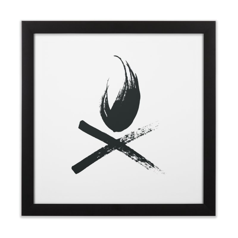 The Fire Home Framed Fine Art Print by mikemarshall's Artist Shop