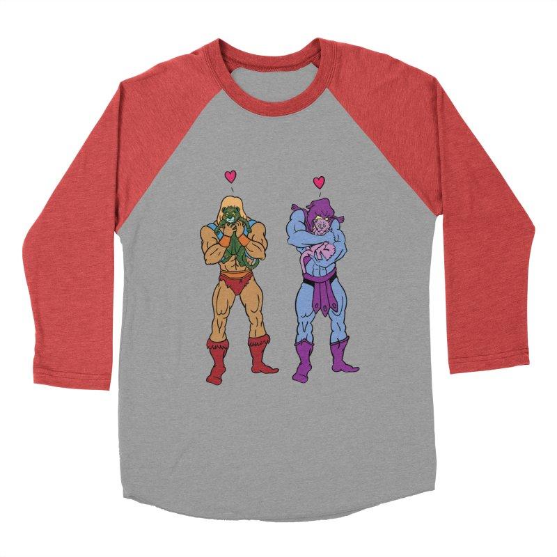 He-Man and Skeletor Snuggle Break Women's Baseball Triblend T-Shirt by mikemcleod's Artist Shop