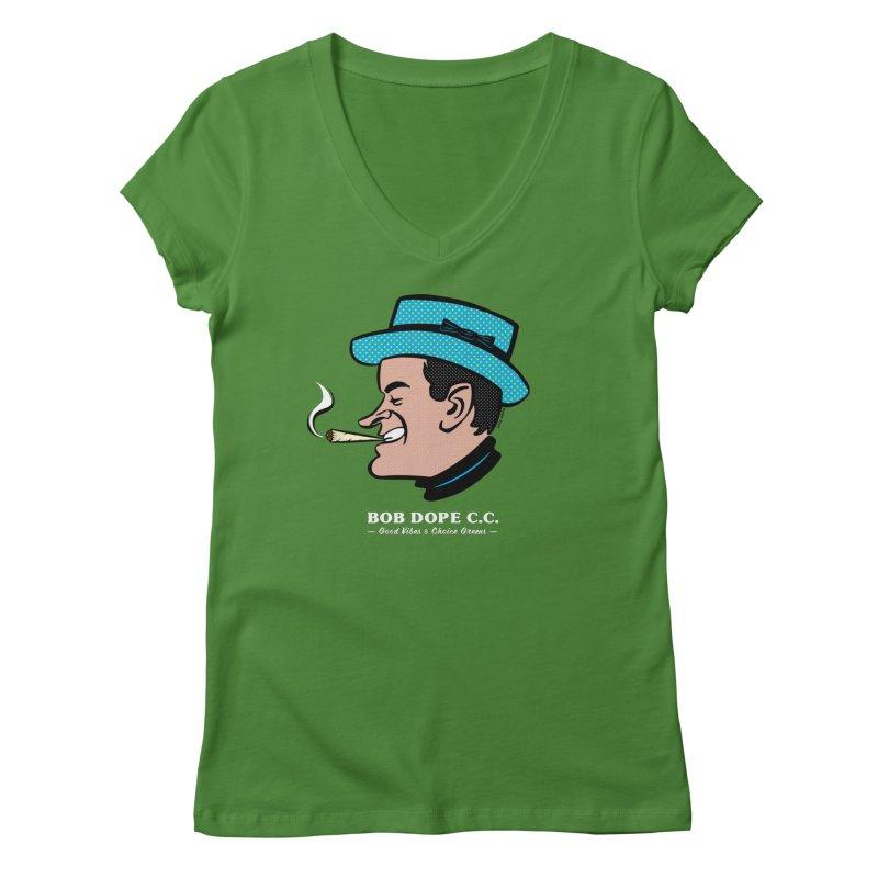 BOB DOPE C.C. Women's Regular V-Neck by The Mike Merg Shop -- On Threadless