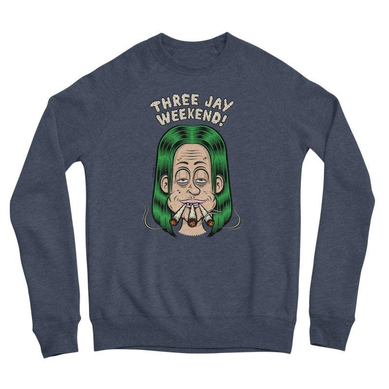 THREE JAY WEEKEND Women's Sponge Fleece Sweatshirt by The Mike Merg Shop -- On Threadless
