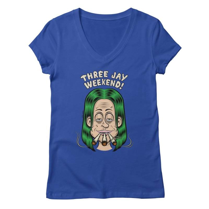 THREE JAY WEEKEND Women's Regular V-Neck by The Mike Merg Shop -- On Threadless