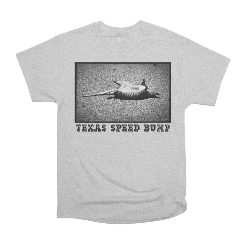 Texas Speed Bump in Men's Heavyweight T-Shirt Heather Grey by Mike Moore Studios's Artist Shop
