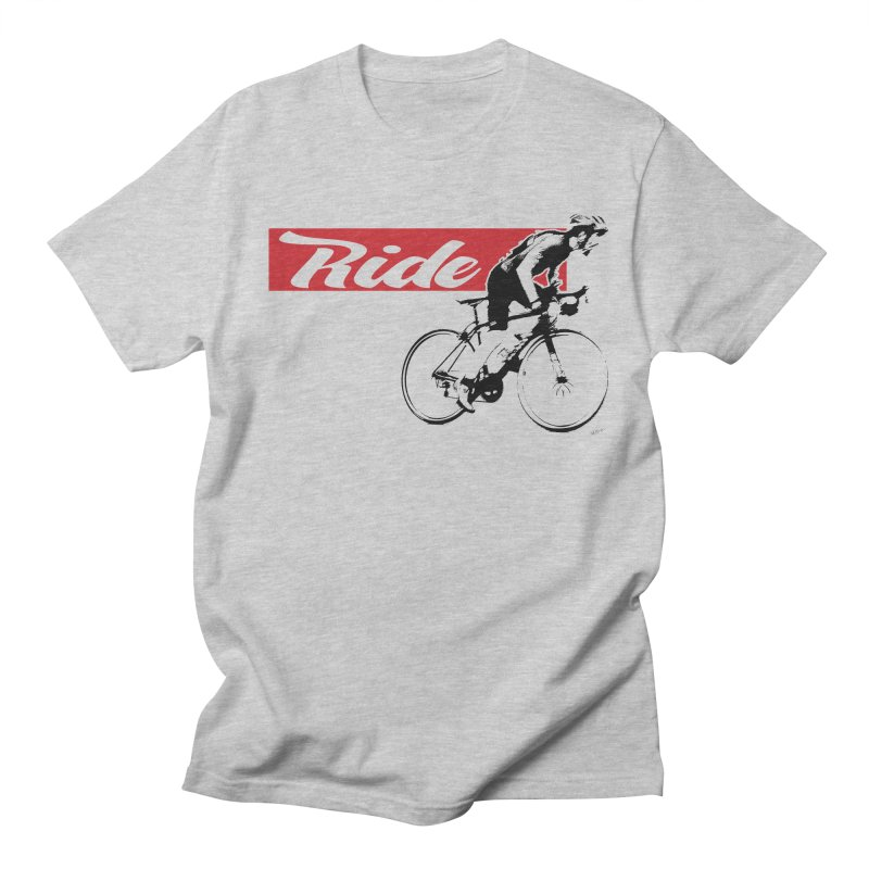 Ride in Men's T-shirt Heather Grey by Mike Moore Studios's Artist Shop
