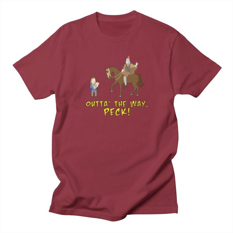 Outta' The Way, Peck! Men's T-Shirt by Mike Schmidt Comics - Artist Shop