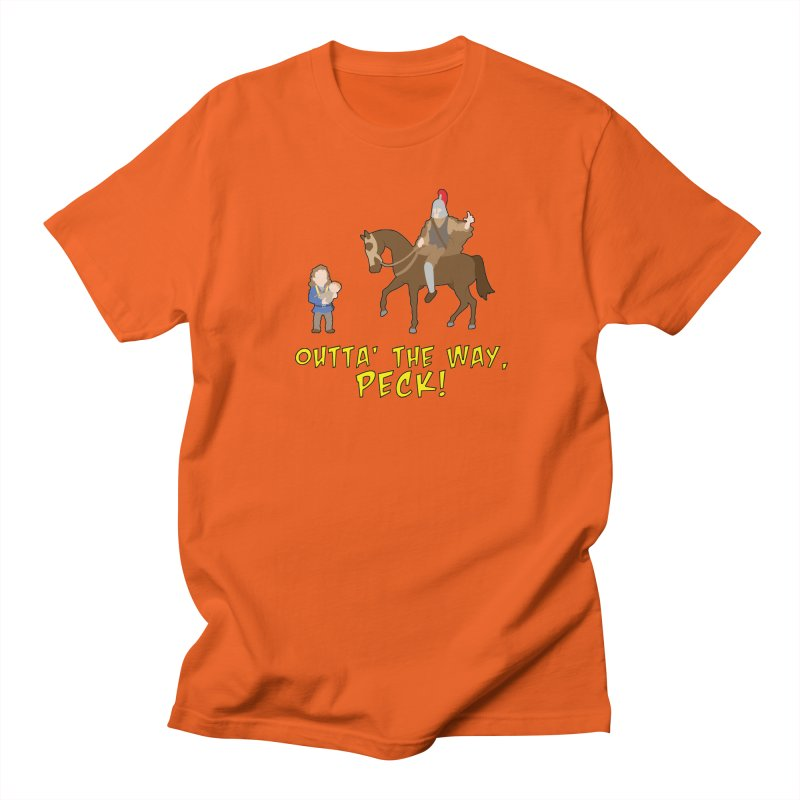 Outta' The Way, Peck! Men's T-Shirt by Mike Schmidt Comics - Artist Shop