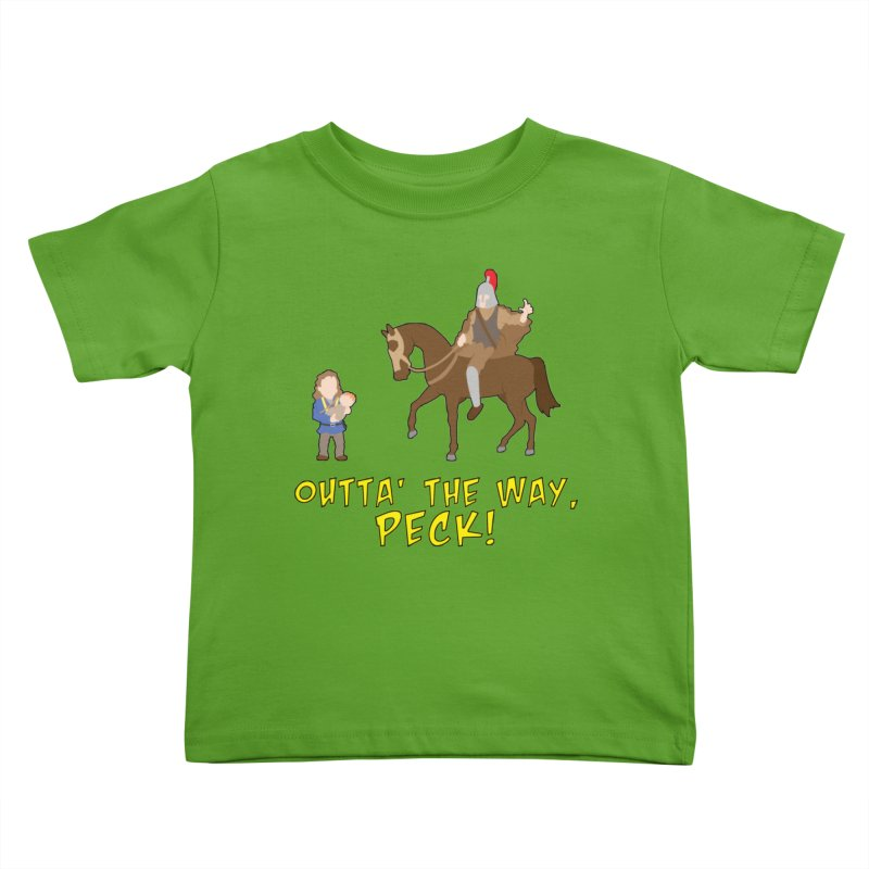 Outta' The Way, Peck! Kids Toddler T-Shirt by Mike Schmidt Comics - Artist Shop